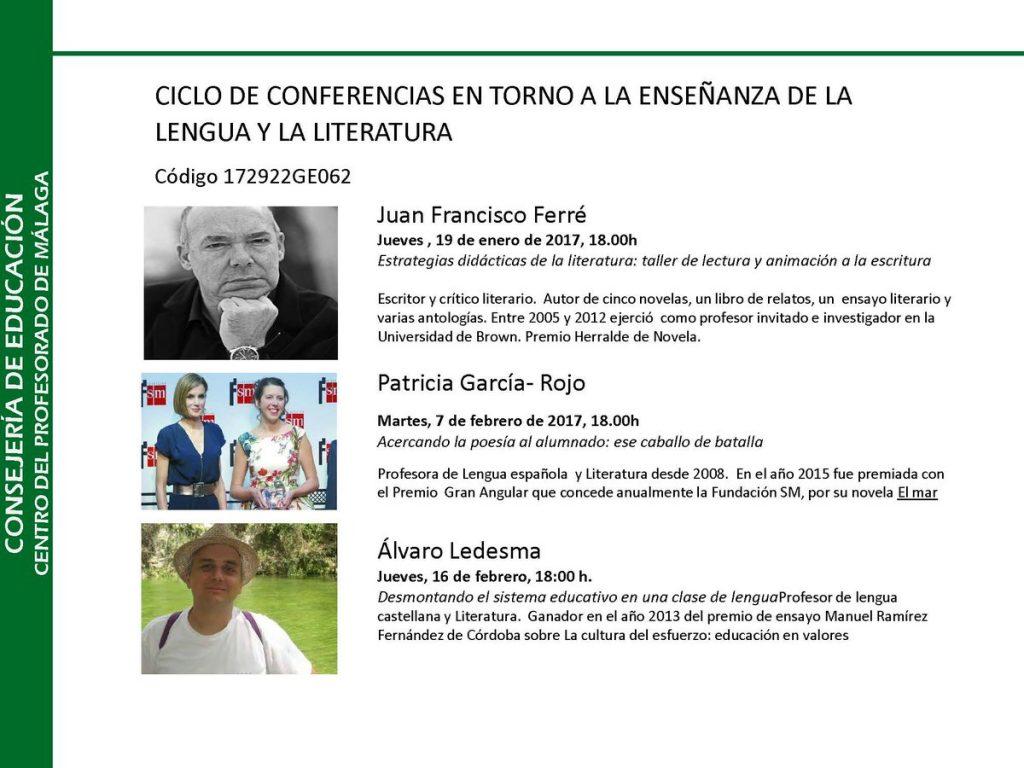 Conferencias sobre Lengua en el CEP