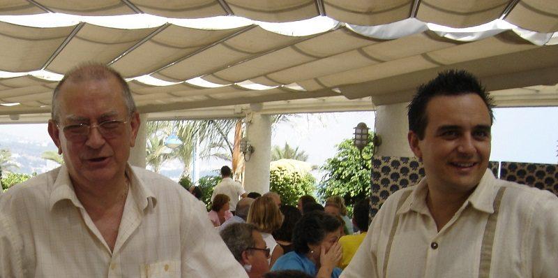 Con mi padre en 2005